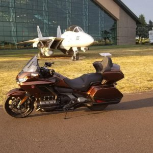 In front of Evergreen Aviation museum in McMinnville, Oregon.